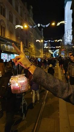 Průvod směřující z náměstí Svobody na Moravské náměstí. Foto: Milan Vábek