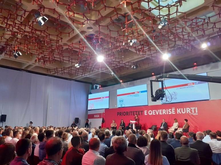 Předvolební setkání nakonec vítězné strany Sebeurčení v Prištině. Foto: archiv autora