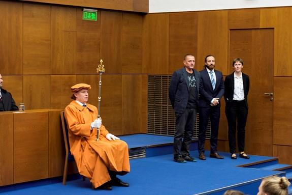 Na fotografii: RNDr. Hana Svobodová, Ph.D., Mgr. Radek Durna a doc. PaedDr. Eduard Hofmann, CSc.