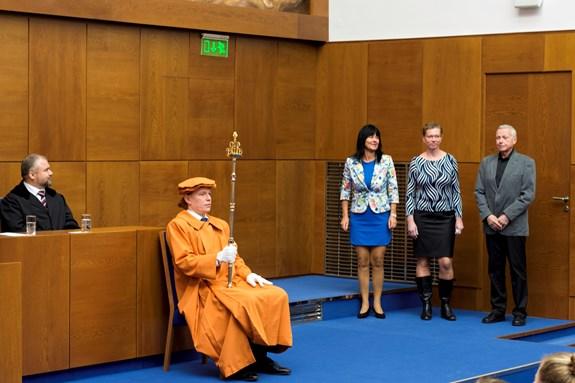 Na fotografii: PaedDr. Hana Janošková, Ph.D., Mgr. Hana Šeráková, Ph.D. a doc. PaedDr. Vladislav Mužík, CSc.