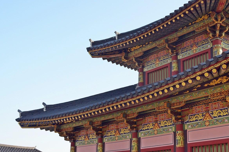 Ukázka tradiční korejské architektury.
