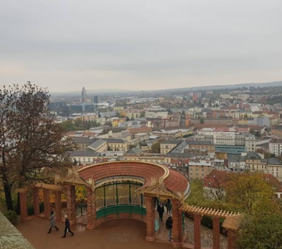 View of Brno with orange buildings, which I like most.