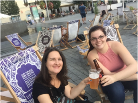 While enjoying the beginning of our new life in Brno with my friend