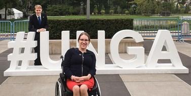 Doktorandka na vozíčku zastupuje mládež v OSN