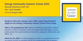 2020 Energy Security Summer School to be Organized with Energy Community