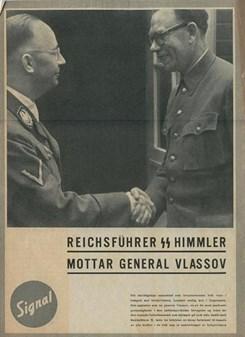 V textu: Generál Vlasov si podává ruku s Heinrichem Himmlerem (1943), neznámý autor, Wikimedia Commons, Public domain