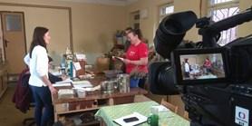 V Centru léčivých rostlin LF MU natáčela reportáž Česká televize