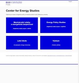 Center for Energy Studies | MUNI FSS