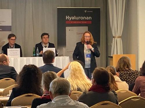 Prezentace doc. Ing. Lucy Vojtové, Ph.D. o problematice hydrogelů v regenerativní medicíně