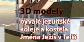 Přednáška z cyklu Rodinné stříbro – Památky kolem nás se zaměří na 3D modely bývalé jezuitské koleje a kostela Jména Ježíš