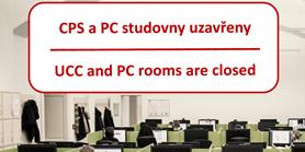 CPS i ostatní PC studovny jsou mimořádně uzavřeny