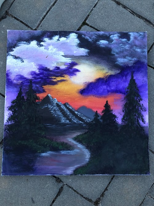 Bob Ross: Sunset Glow