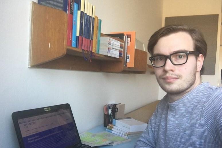 Student práv Oliver Stříbrný.