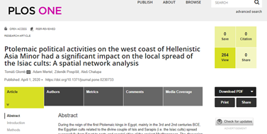New paper about Ptolemaic political activities in PloS ONE