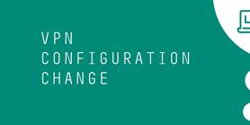 Změna konfigurace VPN