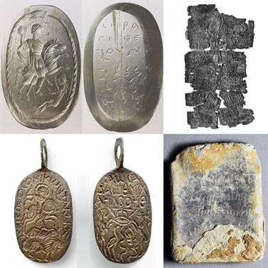 Latinské a řecké defixe, antické a křesťanské amulety, magické gemy