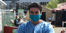 Mike Fiedler, the US medical student who volunteers in Brno