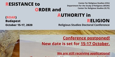 "Conference ""Resistance to Order and Authority in Religion"" in Budapest"