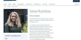 """Pozvánka na online PhD. seminář - Tereza Růžičková: """"Mohou emočně kognitivní testy zlepšit léčbu deprese?"""""""