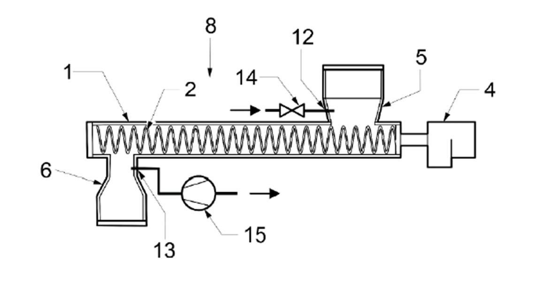 Schematický nákres zařízení