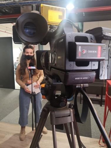 Snem Kriušenko je stát se televizní reportérkou. Zdroj: Anastasija Kriušenko