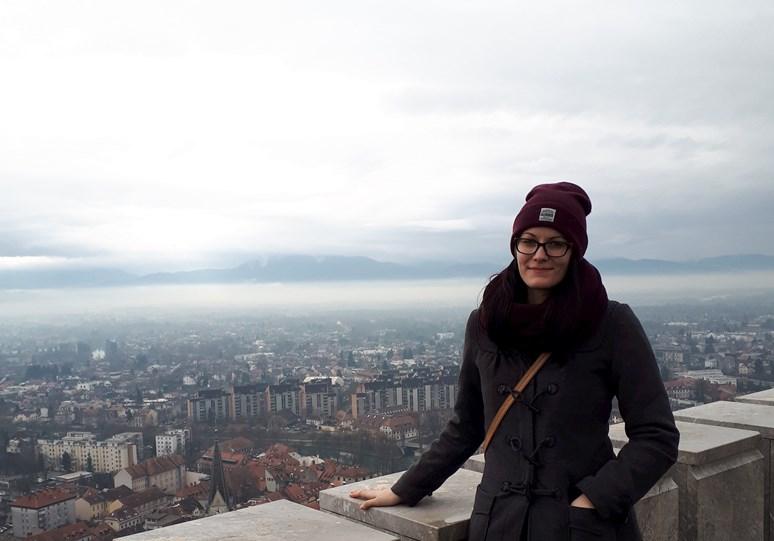 Jana Blahošová kromě čtení ráda cestuje, proto se také rozhodla strávit půl roku na Erasmu ve Slovinsku. Foto: archiv Jany Blahošové