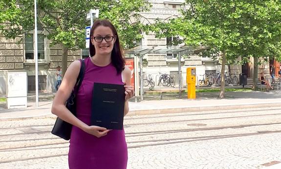 <em>Jana Blahošová získala za svou výzkumnou bakalářskou práci ocenění I. A. Bláhy. Zdroj: Jana Blahošová</em>