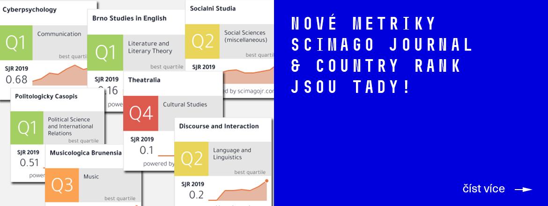 Nové metriky Scimago Journal & Country Rank jsou tady!