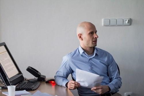 Michal Tkaczyk představuje svůj výzkum. Foto: Petr Barták