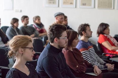 Téma mediálních výzkumů zaujalo i studenty. Foto: Petr Barták
