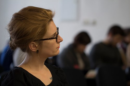 Doktorandka Johana Kotišová prováděla etnografii v České televizi. Foto: Petr Barták
