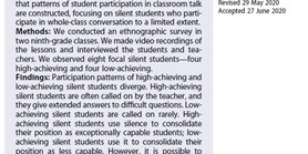 Silent students and the patterns of their participation in classroom talk
