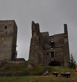 Castle Rokštejn and deserted medieval villages