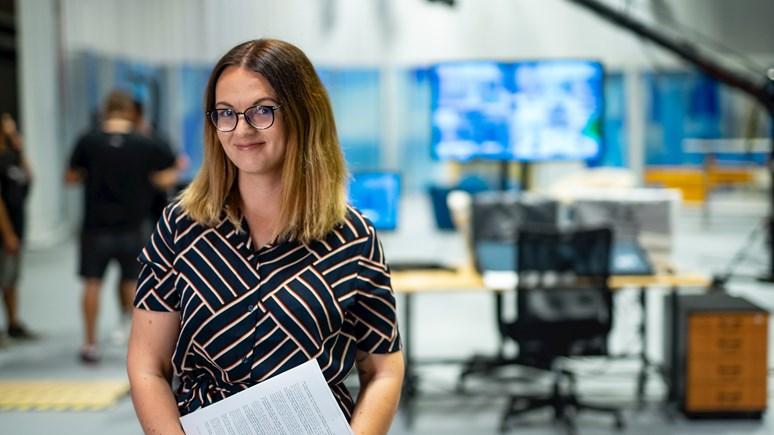 Kateřina Šardická ve svém vysněném pracovním prostředí. Foto: Jiří Mucha