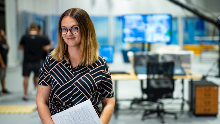 Využijte možnosti stáží a dostaňte se třeba až do České televize jako Kateřina Šardická. Foto: Jiří Mucha