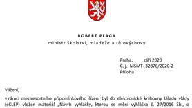 Stanovisko reprezentantů akademické obce k návrhům na změny vyhlášky č. 27/2016 Sb.