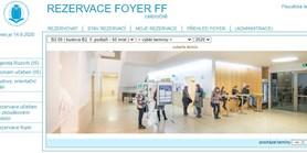 Rezervace foyer FF nyní přes IS MU