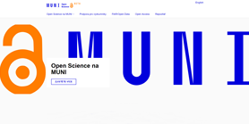 Open Science na MUNI má nový web