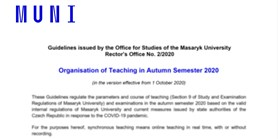 The Office for Studies has issued amethodological guide for teaching in the autumn semester