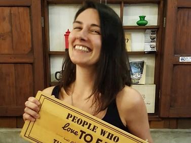 Svou zálibu v jídle a v cestování si Boková užívala například na dovolené v Thajsku. Foto: archiv Gabriely Bokové