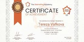 Lektorka První pomoci na SIMU absolvovala The Master Debriefer Course