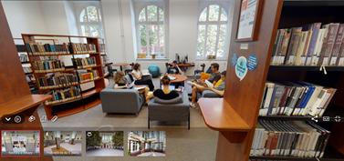 Virtuální prohlídka umožní zájemcům projít se fakultou a prohlédnout její zákoutí. Zdroj: fakulta sociálních studií