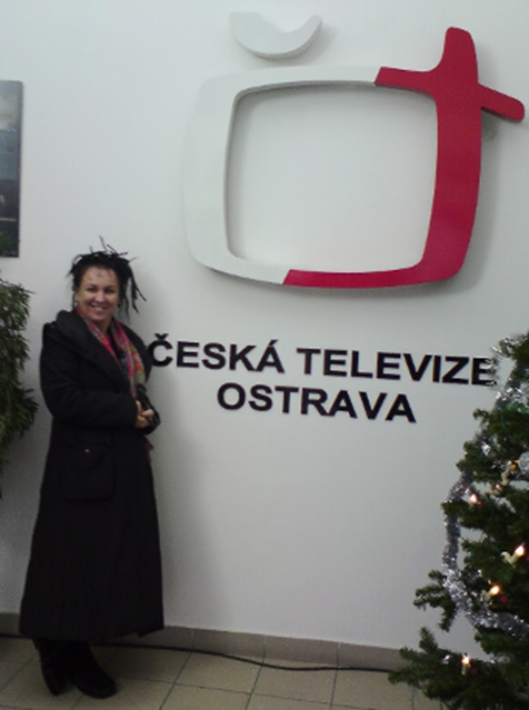 Olga Tokarczuk v ostravském studiu České televize