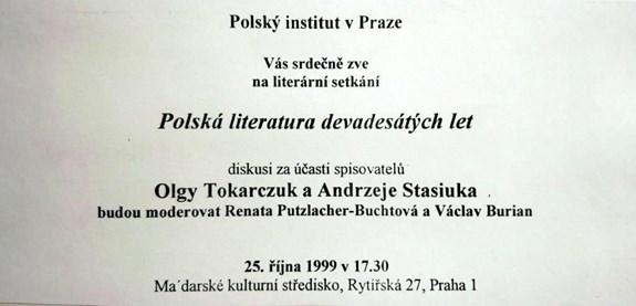 Literární setkání v Praze (1999)