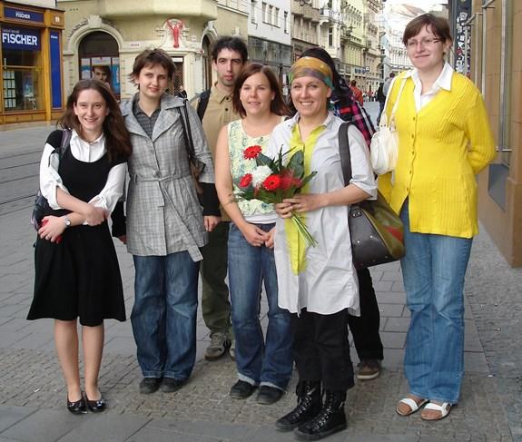 Olga Tokarczuk se studenty FF MU v Brně (2009)