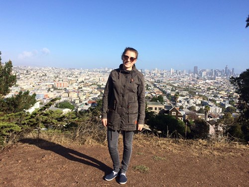 Dominika Betáková v San Franciscu. Foto: archiv Dominiky Betákové