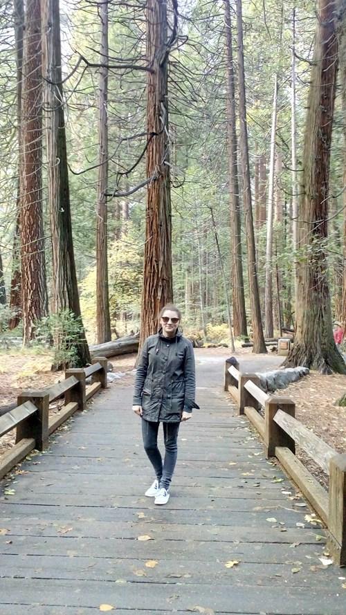 Při návštěvě USA si Betáková nemohla odpustit výlet do Yosemitského národního parku. Foto: archiv Dominiky Betákové
