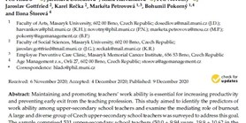 Work Ability among Upper-Secondary School Teachers: Examining the Role of Burnout, Sense of Coherence, and Work-Related and Lifestyle Factors
