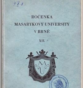 Ročenka MU 1930 / 31