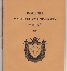 Ročenka MU 1933 / 34